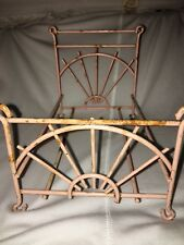 """Pink Antique Metal Bed For Dollhouse 8""""x5"""""""