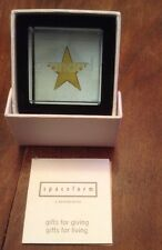 Spaceform London Glass Text Token Grandad Gold Star Paper Weight,boxed,new