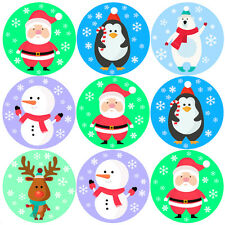 144 Christmas Friends 30mm Children's Reward Stickers for Parents, Teachers