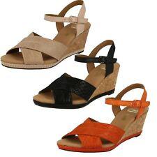 Ladies Clarks Open Toe Wedge Sandals 'Helio Latitude'