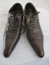 PRIAMO ITALY Men's Dress All Leather Shoes Authentic Antique Design Size 8.5