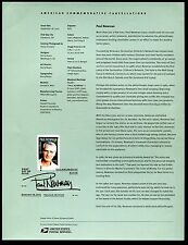 5020 Forever Paul Newman Stamp USPS 1535 Souvenir Page