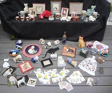 60 Lot Cat Kitten Kitty Motif Theme Stuffed Animals Dolls Toys Figurines + Decor