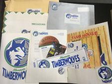 1989 Minnesota Timberwolves Rare Nba Expansion 1st Year Promo Packet Sticker Pin