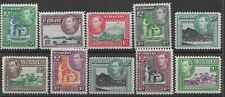 St. Vincent 1938-47 KGVI SG149/156 part set to 1/-   Never Hinged Mint