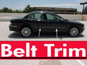 Jaguar X-TYPE X type CHROME SIDE BELT TRIM DOOR MOLDING 2002 - 2007/ 2008 2009