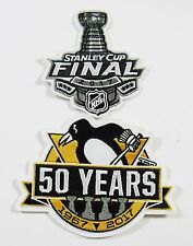 2 HOCKEY PITTSBURGH PENGUINS (50 YEAR  PATCH & STANLEY CUP PATCH ITEM # 92-95