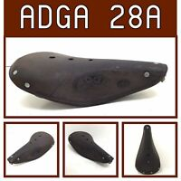 Nice ADGA 28A Leather Bike Saddle 1970's Peugot Chatillonnaise France Erioca