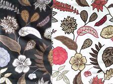 "Sandberg Asta 2 Large Fabric Remnants 60W x 55"" & 51"" Sweden Linen Cotton Nylon"