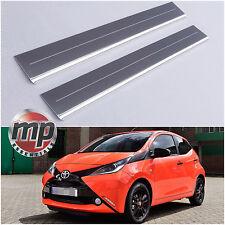 Lockwood Toyota Aygo 2014> Stainless Steel Kick Plate Car Door Sill Protectors