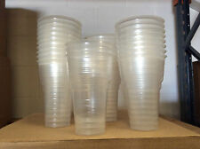 1000 x Disposable Clear Plastic Half 1/2 Pint Party Beer Glass Cup Tumbler BBQ
