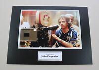 John Carpenter Signed 16x12 Photo Halloween Autograph Memorabilia Display COA