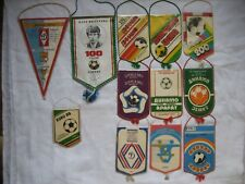 Lot of 12 Vintage Soccer Pennants USSR 1970-1980s Dynamo.Kiev