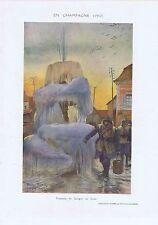 Guerre 1914 1918 Fontaine de Savigny en hiver