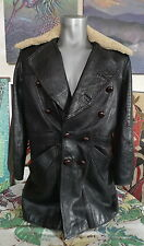 60's 70's EAST WEST MUSICAL INSTRUMENTS Leather Shearling Jacket San Francisco