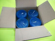 4 Blue/Green Duo 3x3 round Candles, Phoenix Collection, Chaska Candles