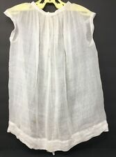 Vintage Victorian Toddlers Girls Sheer Off White Dress