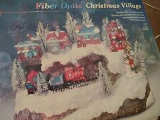 Puleo Fiber Optic Christmas Village Changes Color Nib