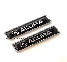2PCS ACURA Luxury Auto Car Body Fender Metal Emblem Badge Sticker Decal