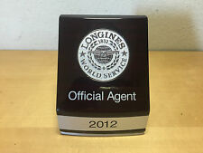 Placa Plaque LONGINES - World Service - Official Agent 2012 - Wood - Watches