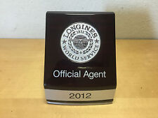 Plate Plaque Longines - World Service - Official Agent 2012 - Wood - Watches