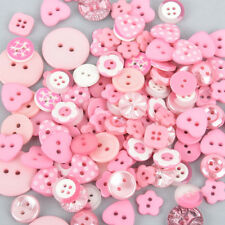 50 grams LIGHT PINK Buttons Mixed styles and sizes but0280