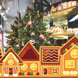 Christmas Gingerbread House Village Scene Hansel and Gretel Window Decoration