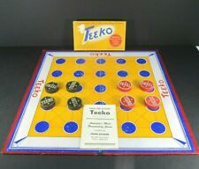 Vintage 1952 TEEKO Game by John Scarne Board Directions Pieces  AS IS