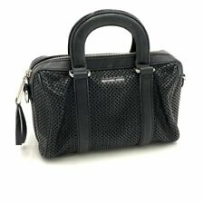MICHAEL KORS Black Perforated Leather Satchel HandBag