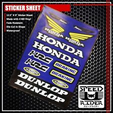MICRO LOGO STICKER DECAL HONDA RACING MAX BREAKING HRC CEMOTO DUNLOP BIKE BLUE