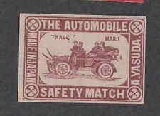 Ancienne    étiquette Allumettes   Japon  NN1700 Automobile Voiture