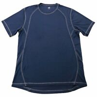 ALO Mens Cool Fit short sleeve Active Tee Navy Blue Size XL