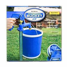 Camco Blue Collapsible Storage Case-Durable Pop Up Bucket with Watertight Fab.