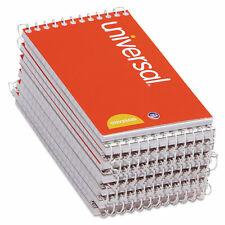 Universal Wirebound Memo Books Narrow Rule 5 X 3 Orange 12 50 Sheet Padspack