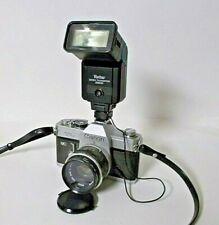 Canon TL QL 35mm SLR Film Camera w/ Canon 50mm f1.8 Lens, Vivitar Flash