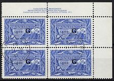 Canada $1 Fisherman G OVPT PB, Scott O27, VF used CDS, catalogue - $638