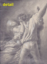 Master Pencil Drawing/Study after Fragonard: The Lock, The Bolt, LE VERROU