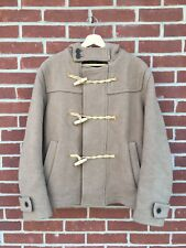 Gloverall Made In London Boiled Wool Short Monty Duffle Coat Mens 42 Camel