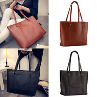 New Fashion Designer Large Womens Leather Style Tote Shoulder Bag Handbag Ladies