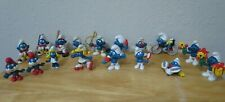 Vintage 1970's 1980'S Schleich Peyo Smurf figures Lot of 17 Hong Kong