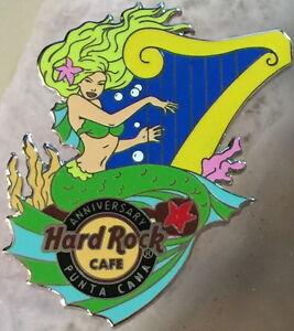 Hard Rock Cafe PUNTA CANA 2014 7th Anniversary PIN Sexy MERMAID Girl Harp #79499