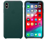 Waldgrün iPhone XS Max Apple Echt Original Leder Hülle Leather Case