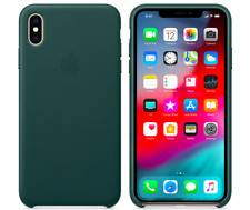 Waldgrün iPhone XS Max Apple Echt Original Leder Hülle Leather Case