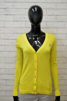 Maglione GUESS Donna Taglia M L Pullover Cardigan Sweater Woman Giallo Cotone