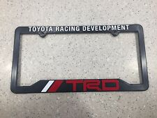 TRD Toyota Racing Development License Plate Frame Black Red & White NEW