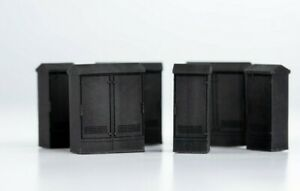 OO Gauge 1:76 Scale Railway Relay or Telecoms Cabinets, Set of 6
