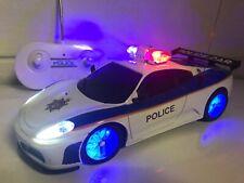 POLICE FERRARI Radio Remote Control Car Police Sirens & Flashing Lights Boxed