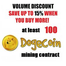 at least 100 Dogecoins 1 hour Dogecoin (DOGE) Cryptocurrency mining contract