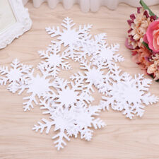Christmas 3D White Snowflake Paper Garland Banner Hanging  Ornament Home Decor