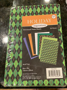 """Halloween Holiday Inspirations Acid Free Foam Sheets Stickyback 6x9"""" 25 pieces"""